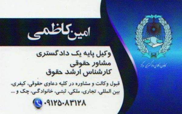 امین کاظمی-وکیل پایه یک دادگستری