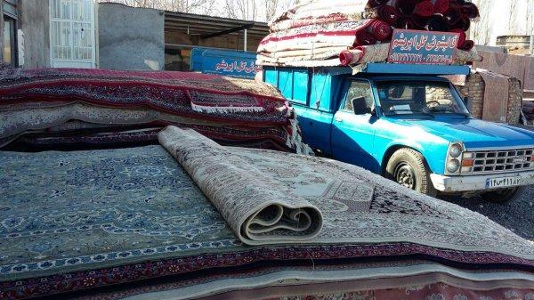 قالیشویی گل ابریشم